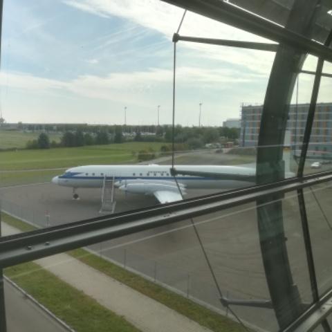 Alte Lufthansa Maschine