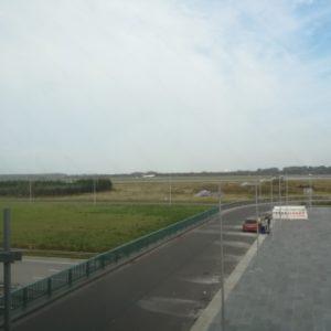 Lufthansa Flugzeug landet in Leipzig Halle Flughafen